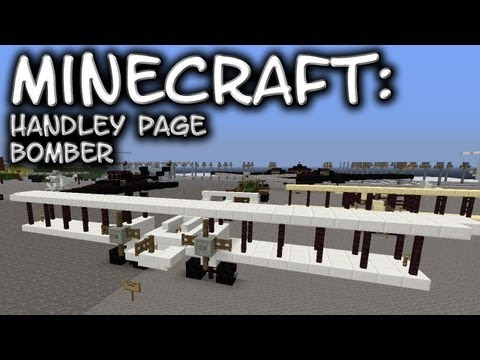 Minecraft: WWI Aircraft - Handley Page Bomber Tutorial