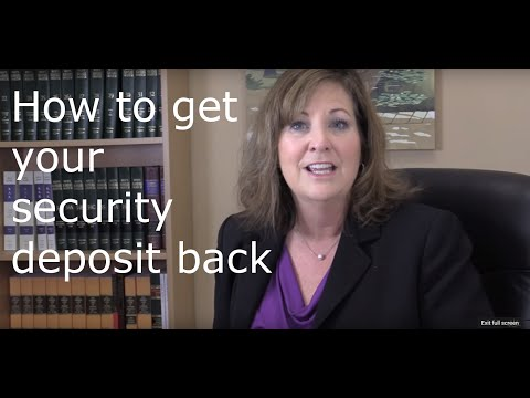 How to get your security deposit back!