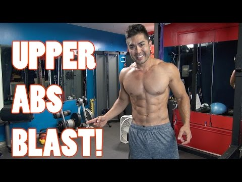 Upper Abs Blast! - Fast Way To Get Ripped Abs!