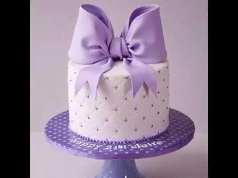 Fondant Bow-ribbon Cakes easy for beginners.