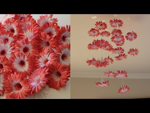 DIY Simple Home Decor - Hanging Flowers 3 - Handmade Decoration