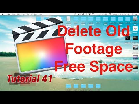 Delete Old Footage, Free Space in Final Cut Pro 10.2.1   Tutorial 41