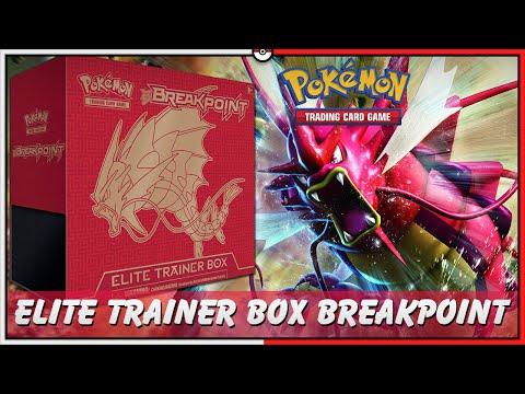 Pokémon TCG: UNBOX ELITE TRAINER BOX BREAKPOINT MEGA GYARADOS BOLADÃO