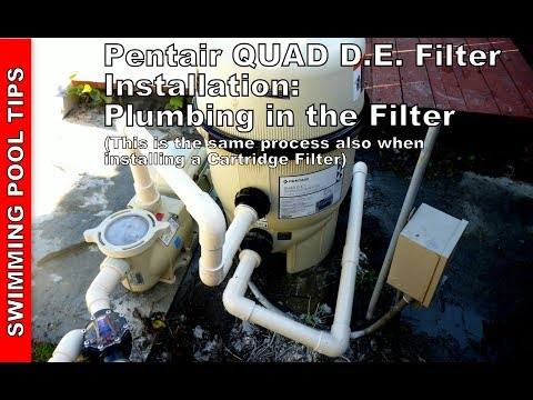 How to Install a Pentair QUAD D.E. Filter (also, same process for a Clean & Clear Plus Filter)