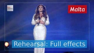 Claudia Faniello - Breathlessly - Malta - Second Rehearsal - Eurovision Song Contest 2017 (4k)