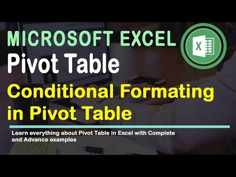 Conditional Formatting in Pivot Table Excel 2016