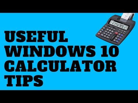 Useful Windows 10 Calculator Tips