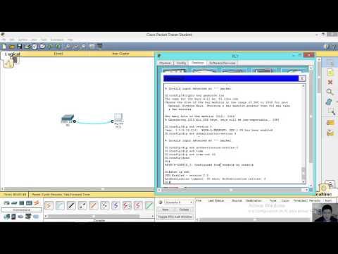 Configuring SSH (Switch 2960) - Configurando SSH  (Switch 2960)