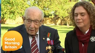 Colonel Tom Moore Awarded Knighthood But What Will He Say to the Queen? | Good Morning Britain