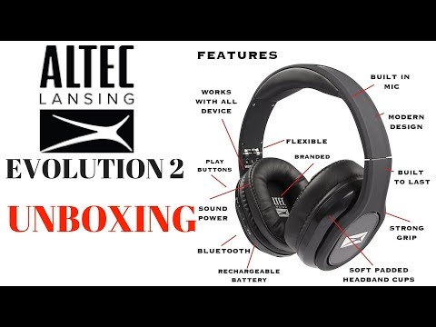 Altec Lansing Evolution 2 unbox MZX667 bluetooth wireless headphones unboxing vs Beats Audio, JBL