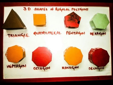 Maths model 3d shapes polygons | polyhedrons easy to make