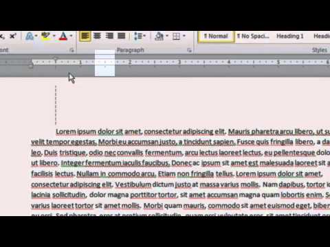 Quick Tip: How to Indent from the Ruler in Microsoft Word
