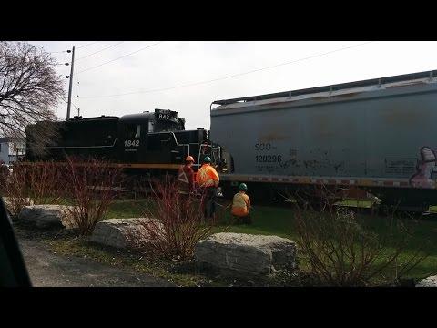 Train Derailment In Port Colborne