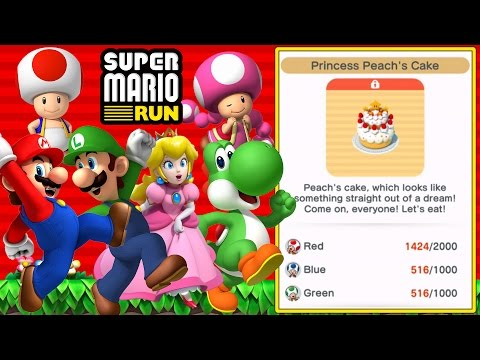 Super Mario Run - Toad Rally | Unlocking Princess Peach's Cake! [iPad and iOS Gameplay]