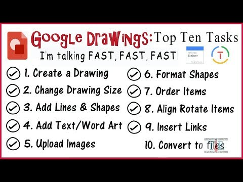 Google Drawings 2018: Top 10 Tasks (Google Educator)
