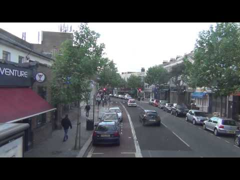 (HD) Full Visual Of Bus Route 185 Lewisham Station To Victoria Station