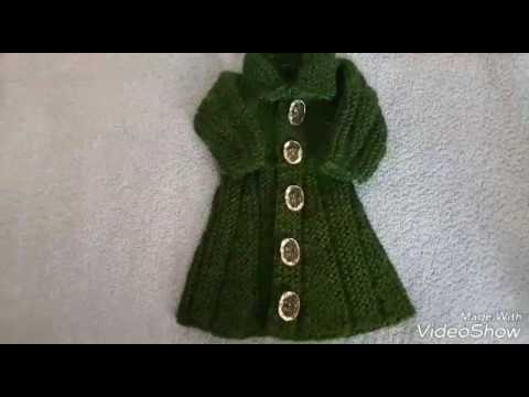 Simple and attractive frock top design easyli how to make woolen hindi tutorial sweater cardigan #2