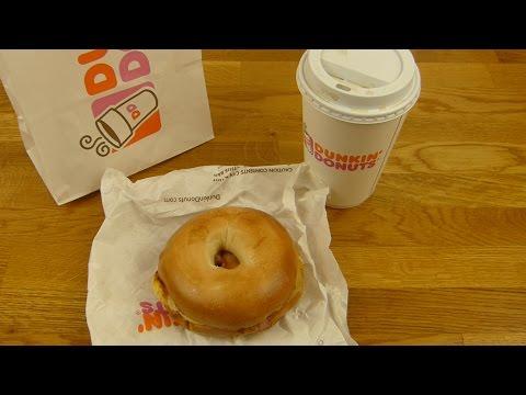 Dunkin' Donuts - Egg Cheese Bacon Bagel & Dunkin' Original Coffee