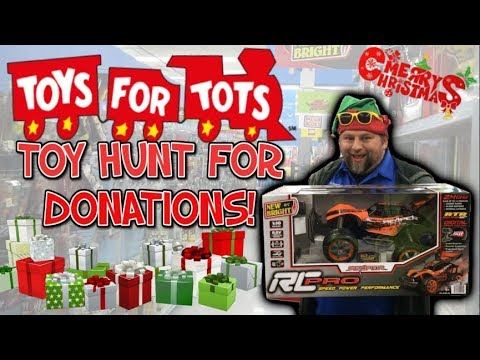 TOYS FOR TOTS TOY HUNT FOR DONATIONS!