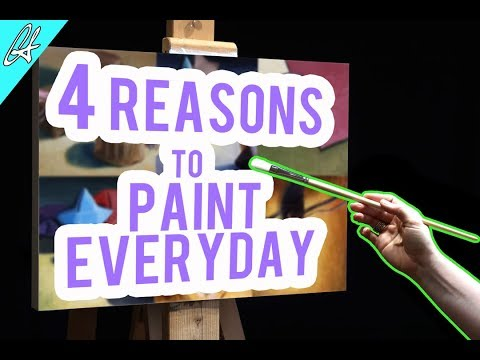 4 reasons why you should do daily paintings | Learn Oil Painting