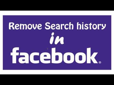 How to Remove Search History in Facebook