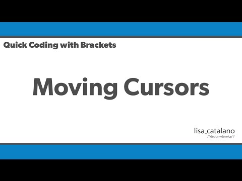 Quick Coding with Brackets - Moving Cursors