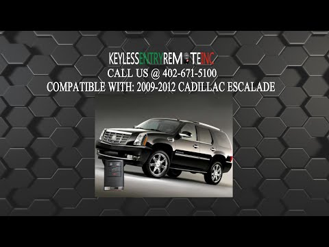How To Replace Cadillac Escalade Key Fob Battery 2009 2010 2011 2012