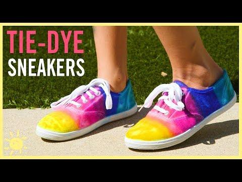 DIY | Tie-Dye Sneakers (Made w. Sharpies!!)