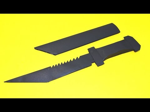 How to make a paper toy tactical  knife