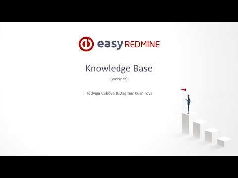 Easy Redmine Webinar - Knowledge Base [8th November 2017]