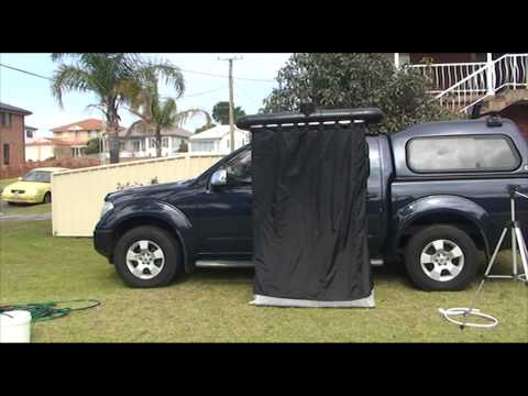 Portable Solar Heated 4WD Shower