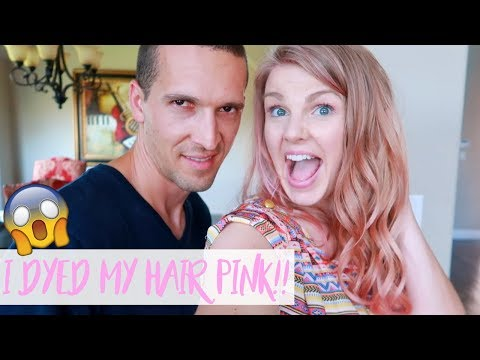 I DYED MY HAIR PINK AND HUSBAND REACTS!!