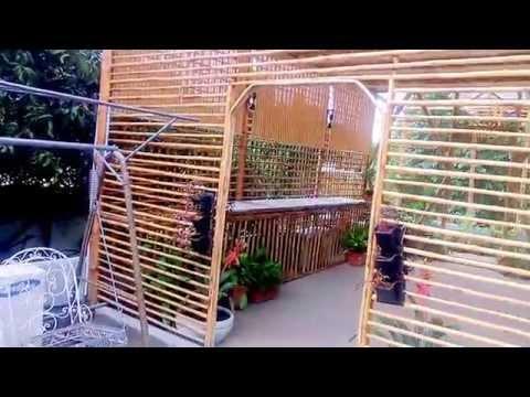 Bangalore Jayamahal roof garden bamboo structure