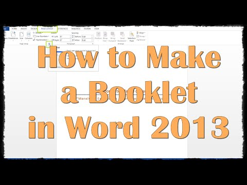 How to Make a Booklet in Word 2013