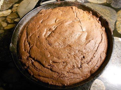 Homemade Cast Iron Brownies