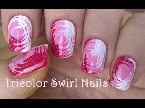 TOOTHPICK NAIL ART #2 / Easy Tricolor SWIRL NAILS Tutorial