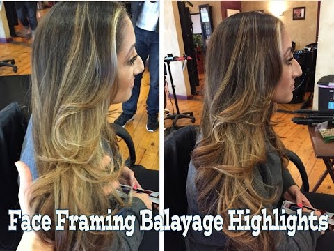Face Framing Balayage tips and tricks