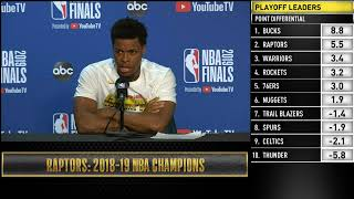 Kyle Lowry Press Conference   NBA Finals Game 6