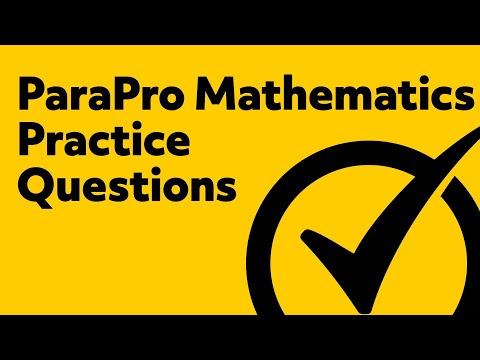 Free ParaPro Math Practice Test