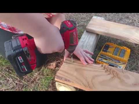 Milwaukee M18 brushless Impact Drill / Driver used by a young girl