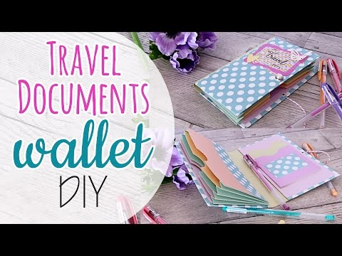 Travel Documents wallet DIY - Porta documenti da viaggio