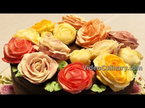Easy Chocolate Cake Recipe - with Buttercream Roses