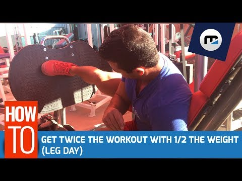 🔥 Get Twice The Workout with 1/2 The Weight (BRAND NEW)  Full Leg Day Routine