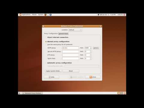 Ubuntu 9.04 instellen network proxy settings