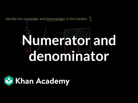 Numerator and denominator of a fraction | Fractions | Pre-Algebra | Khan Academy