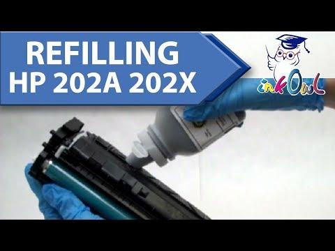 How to Refill HP 202A, 202X Cartridges for M254, M254dw, M281, M281cdw, M281fdw Printers