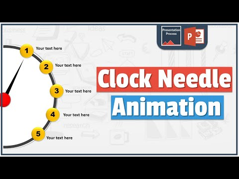 How to Create Clock Needle Animation Effect in PowerPoint 2013