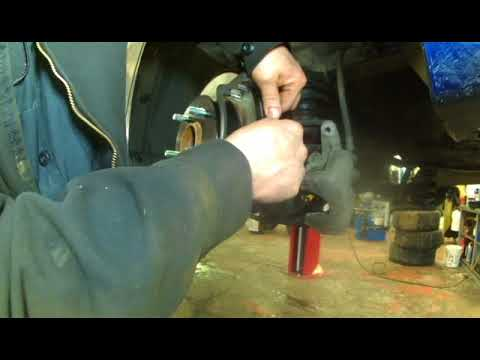 Rear brake pad replacement 2013 Hyundai Elantra.  Install, remove or replace