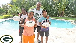 Surprising kids a day with NFL Linebacker Sam Barrington!!! | Giving back to Orlando PT 3. VLOG
