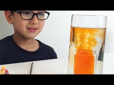 Underwater volcano - kids science experiment